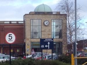 Supermarket clock.