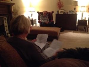 Barbara Rafferty and Sean Scanlan taking notes!