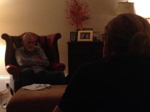 Sean Scanlan and Ruaraidh Murray talking through their lines.
